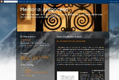 'MEMORIA ARAGONESA', MI NUEVO BLOG