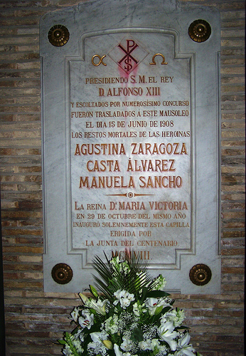 Mausoleo Heroínas Zaragoza por ti.